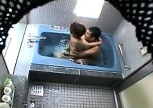 Hidden camera catches a duo bare in..