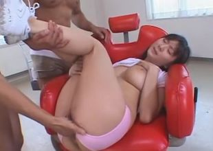 Wild Asian model Yuma Asami in..