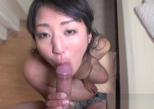Buxom Asian Cougar gets unshaved..