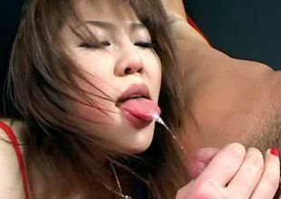 Wonderful Asian gal stripper fondles..