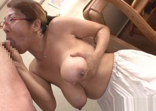 Buxom Asian instructor gets lots of..