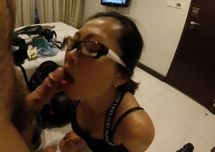 Thailand superslut inhales hard-on in..