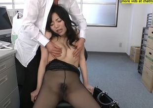 Dark-hued pantyhouse pulverize japan..