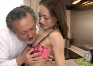 Japanese Old man has copulation..
