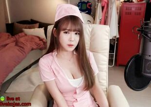 Korean off colour teen camgirl in all..
