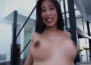 Asian cutie all over heavy jugs
