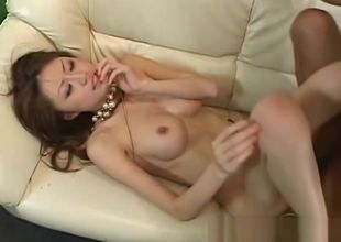 Asian Beauty Internal cumshot